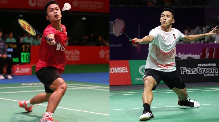 Ginting dan Jojo akan perang saudara di babak kedua Fuzhou China Open 2018.