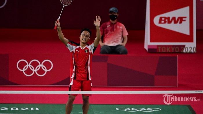 Hasil Piala Thomas 2021: Anthony Ginting Tumbangkan Chou Tien Chen, Indonesia Curi Poin Pertama