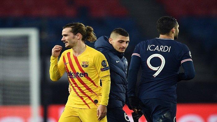 Hasil PSG vs Barcelona, Perjuangan Blaugrana Terhenti, Perasaan Campur Aduk ala Griezmann