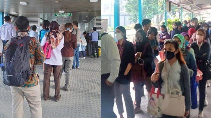 Anies Baswedan kembalikan jam operasional Transjakarta, MRT, dan LRT mulai Selasa (17/3/2020) karena antrean panjang yang terjadi di sejumlah Halte Bus Transjakarta setelah berlakunya jam operasional baru pada Senin (16/3/2020) sebagai upaya pencegahan penyebaran Virus Corona.