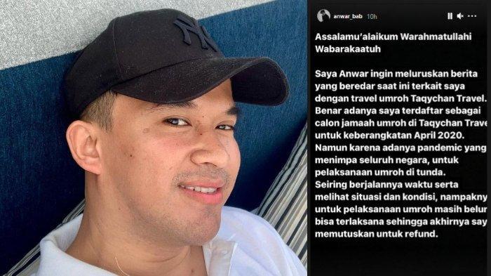 Anwar Sanjaya Pigano alias Anwar BAB buka suara soal isu penggelapan dana Taqychan Travel.