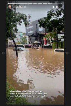 Tak Bisa Pulang Gegara Banjir, Anya Geraldine Mendadak Mengungsi