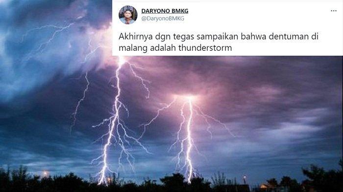 Apa Itu Thunderstorm? Badai Listrik Penyebab Suara Dentuman Misterius di Malang