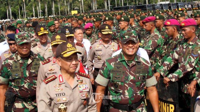 Petinggi TNI dan Polri Gelar Pertemuan di Kantor Panglima TNI