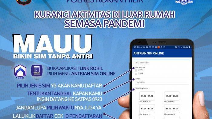 Tanpa Antri dan Takut Tertular Corona, Warga Rohil Bisa Buat SIM Lebih Mudah di Aplikasi I-Link