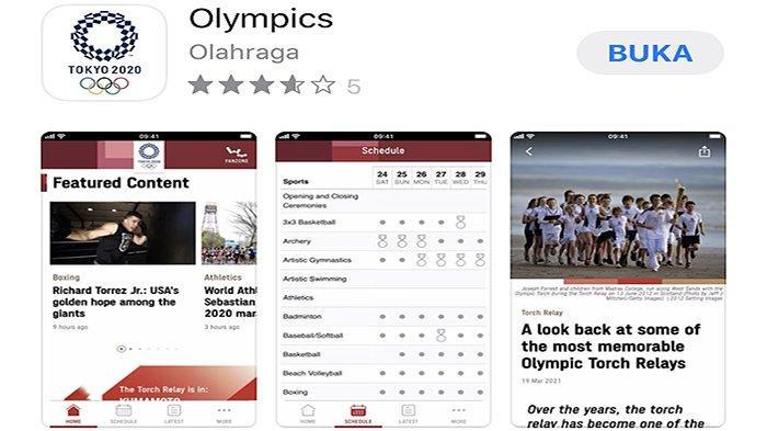 Aplikasi Resmi Olimpiade Tokyo Jepang 2020 Diluncurkan