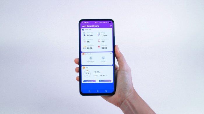 Aplikasi pintar Jovi Smart Scene membantu menjaga pengguna smartphone agar tetap sehat dan bugar.
