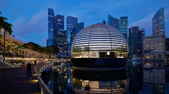 Apple Buka Toko Terapung Pertama di Singapura dengan Arsitektur Unik, Seperti Apa Isinya?