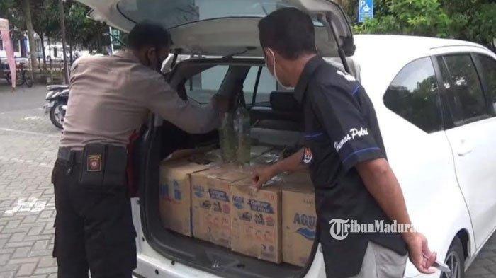 Mobil Mencurigakan Melintas di Trenggalek-Ponorogo saat Diperiksa Isinya Arak Jowo Bukan Pemudik