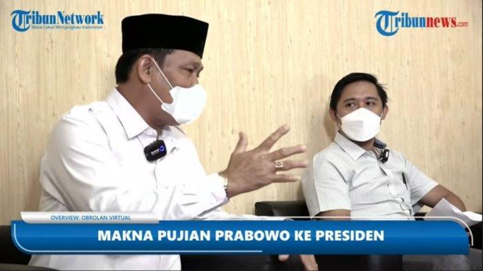 Ketua DPC Gerindra Kota Solo, Ardianto Kuswinarno (kiri) bersama pengamat psikologi politik dari UNS Solo, Moh Abdul Hakim (kanan) dalam program diskusi Overview Tribunnews.com, Kamis (2/9/2021).