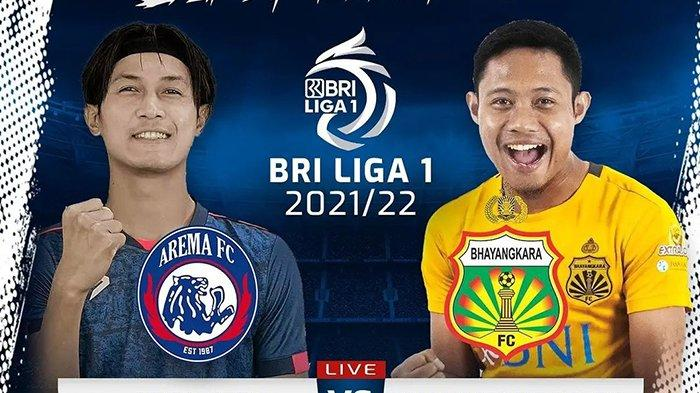 Live Streaming Indosiar, Arema FC vs Bhayangkara FC Pukul 15.00 WIB, BRI Liga 1 2021