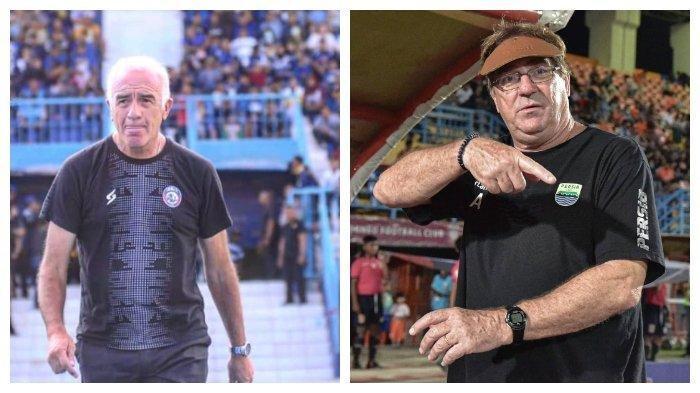 Pelatih Arema FC, Mario Gomez dan Pelatih Persib Bandung Robert Alberts