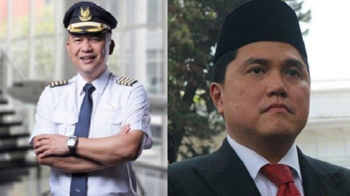 Dirut Utama Garuda Indonesia Ari Askhara dan Menteri BUMN Erick Thohir