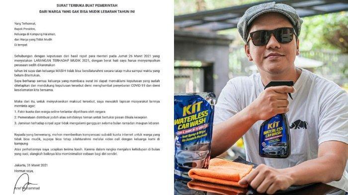 Surat Terbuka YouTuber Arief Muhammad pada Jokowi soal Larangan Mudik Dikomen Sandiaga Uno