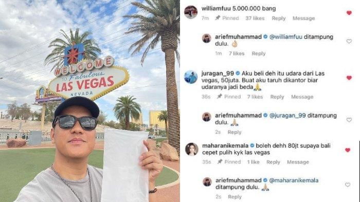 Arief Muhammad menjual udara Las Vegas.