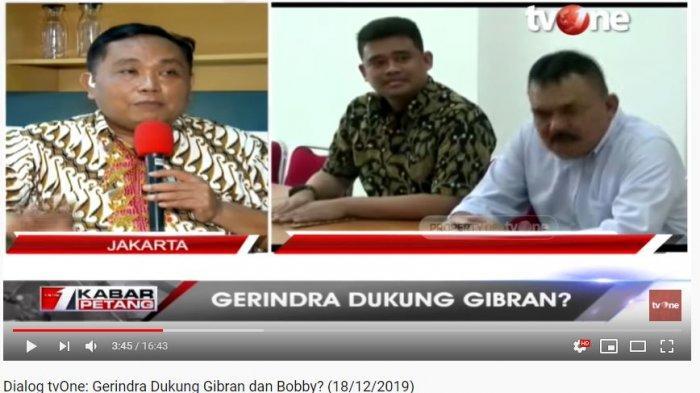 Wakil Ketua Umum DPP Gerindra, Arief Poyuono (Tangkap Layar YouTube tvOneNews).