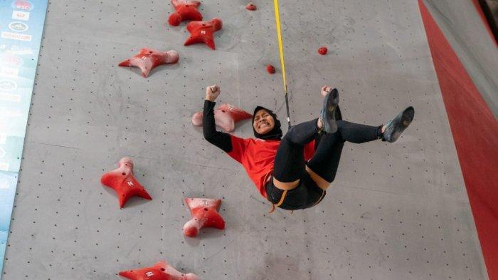 Atlet panjat tebing nasional, Aries Susanti Rahayu.
