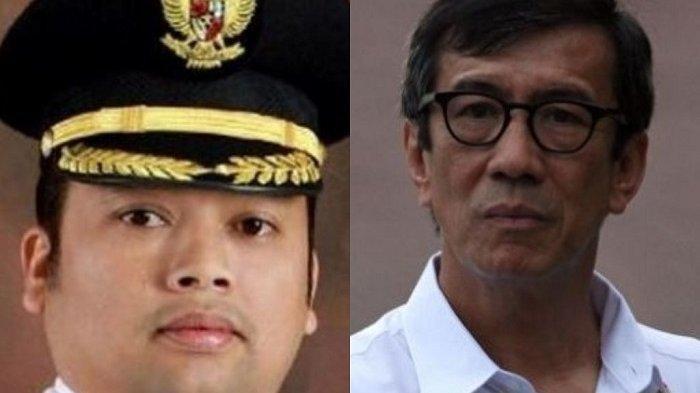 Wali Kota Tangerang Arief R Wismansyah dengan Menteri Hukum dan HAM (Menkumham) Yasonna Laoly