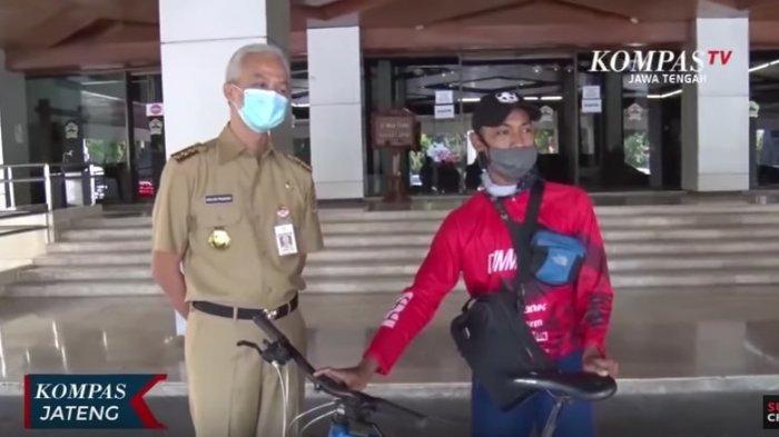 Cerita Pelajar SMK Naik Sepeda Purwokerto-Semarang demi Buktikan Wajah Ayahnya Mirip Ganjar Pranowo