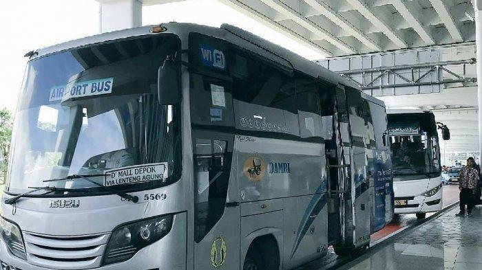 Armada bus Damri Bandara Soekarno-Hatta.