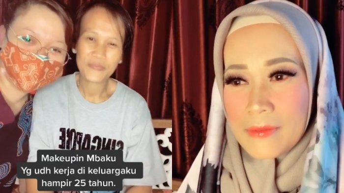Viral Video ART yang 25 Tahun Bekerja dan Jarang Pakai Make Up Didandani, Begini Cerita Pengunggah