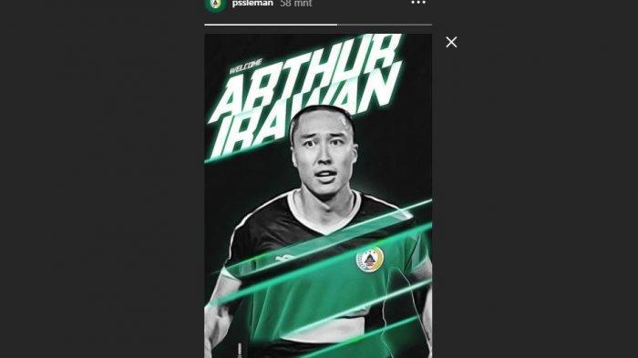 Arthur Irawan Resmi Bergabung PSS Sleman