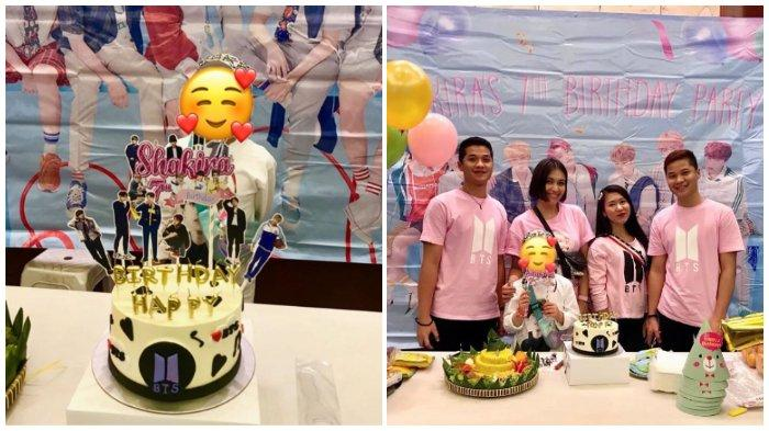 Artis Denada menggelar pesta ulang tahun untuk anaknya, Shakira Aurum. Denada memilih tema boy band asal Korea, BTS untuk acara ulang tahun sang putri.