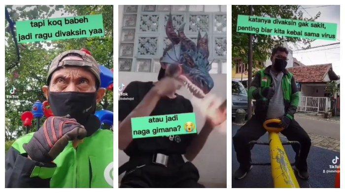 Dikemas dengan Konsep Lucu, Seorang Pria Unggah Video Ajak Driver Ojol Ikut Divaksin, Videonya Viral