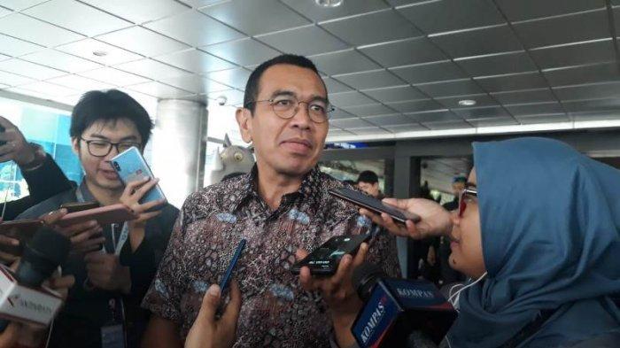 Stafsus BUMN Arya Sinulingga di Kementerian BUMN, Jakarta Pusat, Senin (25/11/2019).