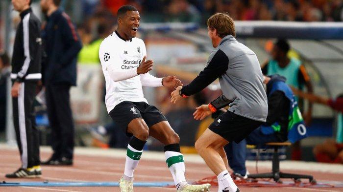 Rayakan Gol ke Gawang AS Roma dengan Jajaran Pelatih Liverpool, Begini Alasan Georginio Wijnaldum