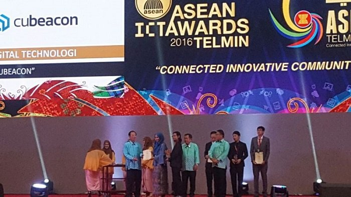Ukir Prestasi di Level Global, Cubeacon Raih Juara Pertama ASEAN ICT Awards 2016