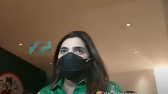 Ashanty saat dikonfirmasi oleh rekan media