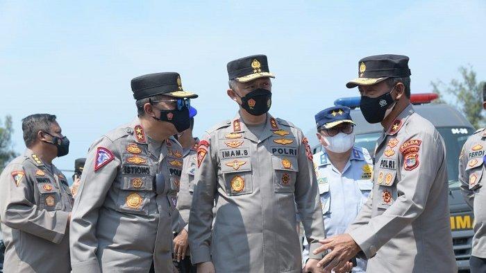 Asops Kapolri Bersama Kakorlantas Pantau Arus Balik Lebaran 2021 di Pelabuhan Bakauheni