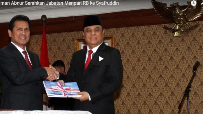 Asman Abnur Serahkan Jabatan Menpan RB ke Syafruddin
