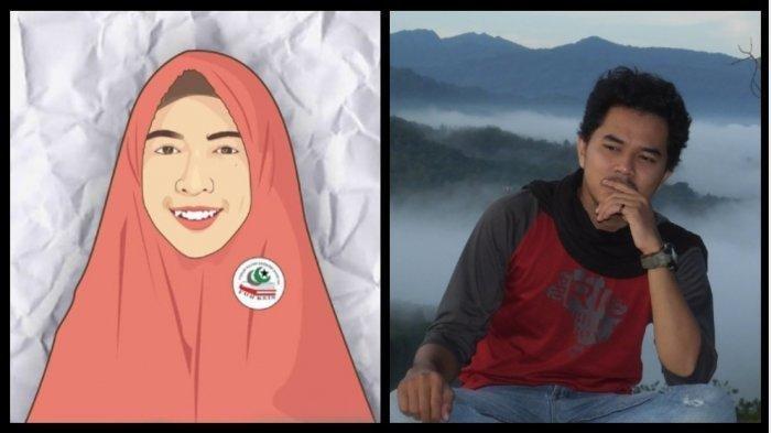 Asmaul Husna (kiri) dan Ridhoyatul Khaer (kanan)