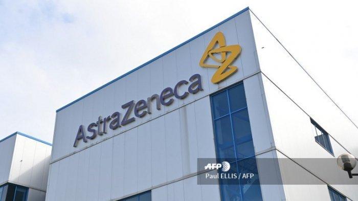 Gambar kantor perusahaan farmasi dan biofarmasi multinasional Inggris-Swedia AstraZeneca PLC di Macclesfield, Cheshire pada tanggal 21 Juli 2020.