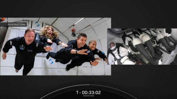 SpaceX Luncurkan 4 Astronot Amatir untuk 3 Hari Mengelilingi Bumi