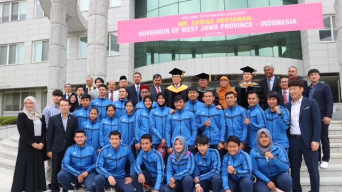 Temui Atlet Jabar di Korea, Aher: Kudu Gede Kawani!