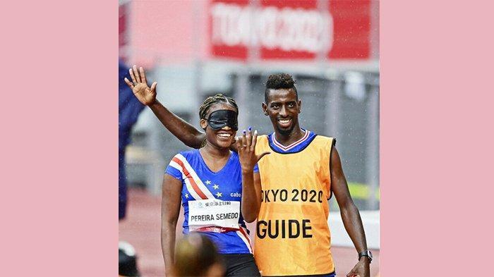 Sprinter Asal Afrika Barat Pereira Semedo Dilamar Kekasihnya di Arena Paralimpiade Tokyo Jepang