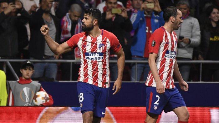 Hasil Liga Spanyol Athletic Bilbao vs Atletico Madrid Babak Pertama: Imbang 1-1, Costa Cetak Gol