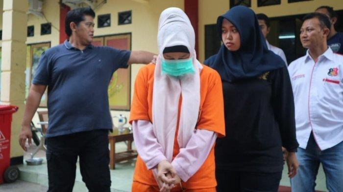 Aulia Kesuma atau AK di Mapolres Sukabumi.