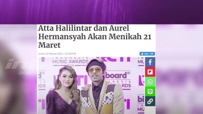 Aurel Hermansyah dan Atta batal menikah akibat covid-19