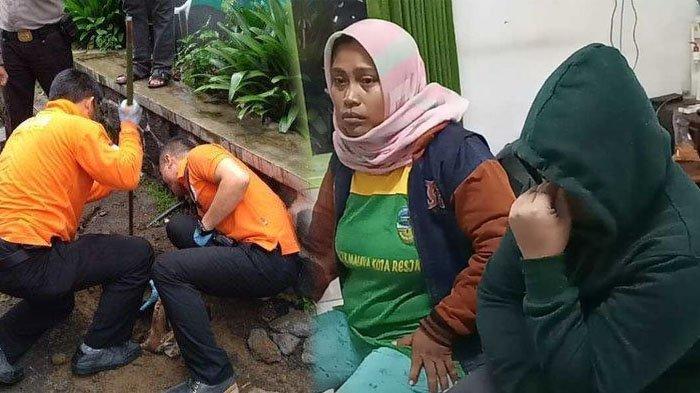 Ayah korban Delis Sulistina (13) siswi SMPN 6 Tasikmalaya yang ditemukan tewas di gorong-gorong sekolah sempat tertangkap kamera pada malam hari pertama penemuan mayat di RSUD dr Soekardjo Tasikmalaya, Selasa (4/2/2020).