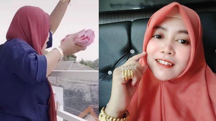 Viral Crazy Rich Ayang Yasmin Sebar Uang dari Balkon Rumah, Sukses Berawal dari Usaha Tas Online
