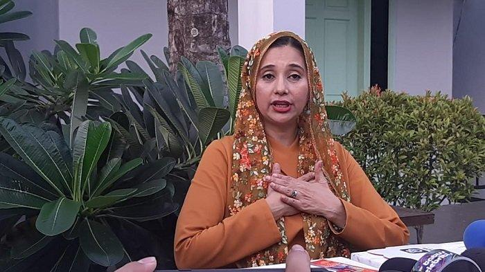 Ayu Azhari ditemui di acar peluncuran kopi 'Khadijah Coffee for Wisdom by Ayu Azhari', di Jalan Kemang Timur, Jakarta Selatan, Rabu (29/1/2020).