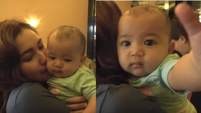 Video Thania Anak Ruben Onsu Gemas Diciumi Ayu Ting Ting & Anteng di Gendongan Abdul Rozak