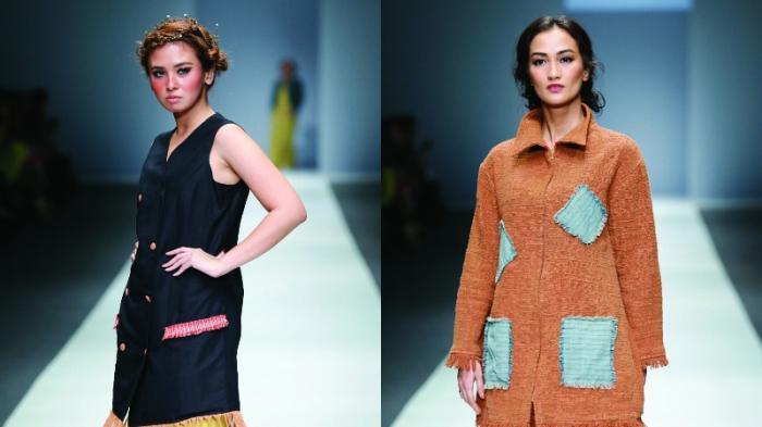 'Kolaborasi Tenun Baduy' di Tubuh Atiqa Hasiholan dan Ayushita