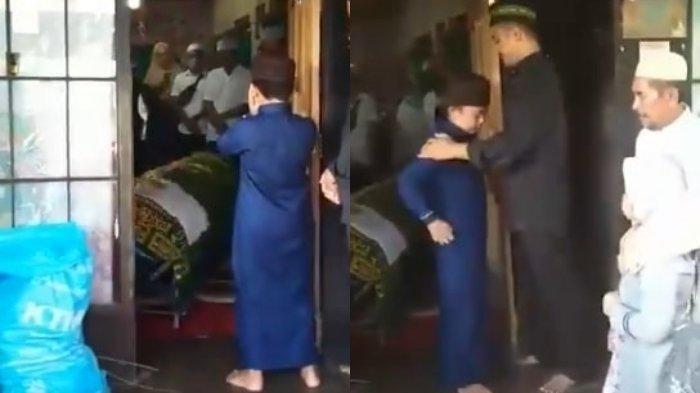 Viral Video Haru Bocah Mengazankan Jenazah Ibunya, Tampak Tegar, Tangis Para Pelayat Pecah