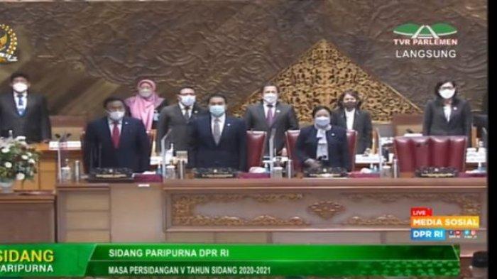 Azis Syamsuddin Hadiri Rapat Paripurna DPR