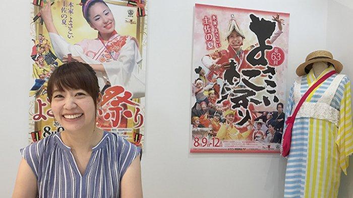 Azusa Iyota, desainer baju Yosakoi terkenal dari Dream Company di Kochi Jepang